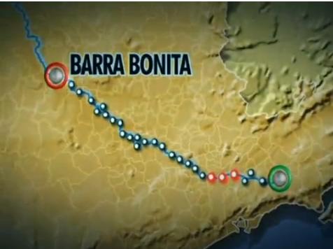 mapa do percurso l imagem: sptv