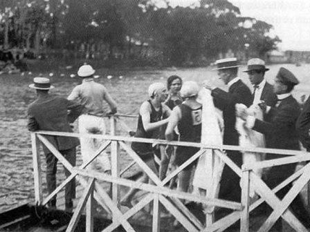 1ª travessia a nado no rio, em 1924 l imagem: prefeitura de são paulo