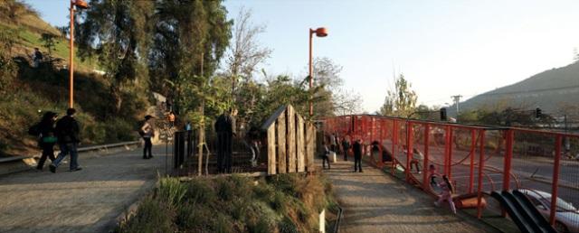 vista interna da grade divisória do parque | imagem: elemental