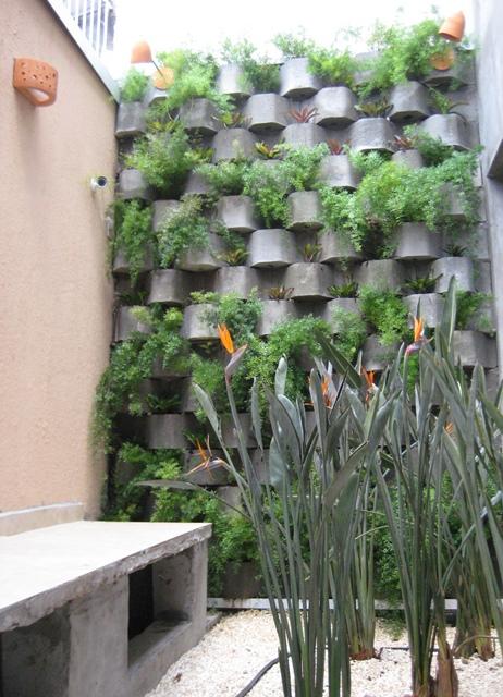 vista geral do muro verde dos fundos