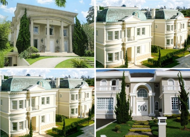 exemplo de casas neoclássicas construídas e habitadas