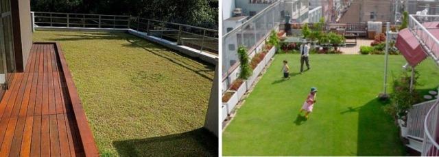 exemplos de lajes verdes | imagem: envec