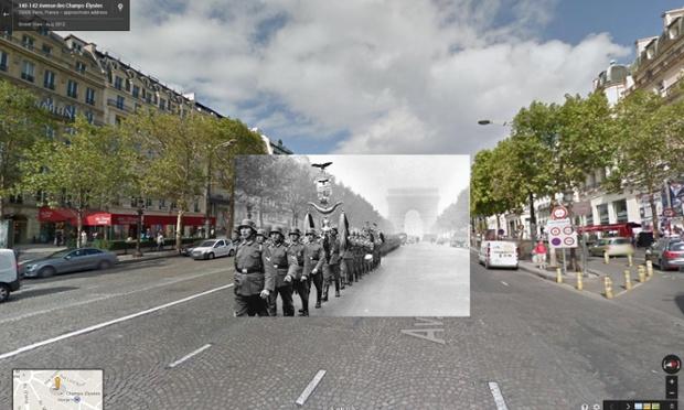 desfile de soldados alemães pela champs-elysées, em paris, junho 1940 | imagens: Halley Docherty, The Guardian